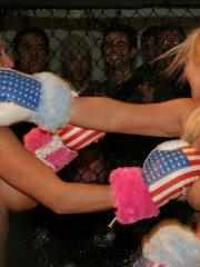 Pictures of Abbey Brooks in a foxy boxing match