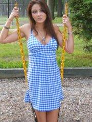 Pictures of Annabelle Angel being naughty in a park