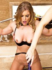 Pictures of Ashley Fires dominating her poor slave