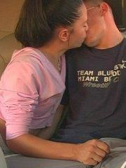 Pictures of teen Brandi Belle getting hot with her boyfriend