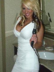 Pictures of teen Brooke Becker teasing in a white dress