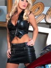 Pictures of Brooke Becker wearing tight leather