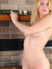 Pictures of Callista Model totally nude for you by the fireplace