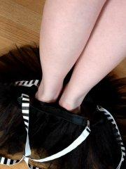 Pictures of teen girl Chloe Dove teasing with her gothic body