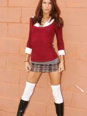 Pictures of a sexy schoolgirl in boots