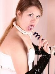 Pictures of GBD Vicky giving a hot fetish set