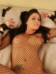 Pictures of Haley Wilde all tied up in bed