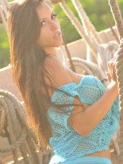 Pictures of teen star Janessa Brazil being a hot farmer girl