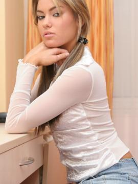 Pictures of teen star Judy Jade teasing in pigtails