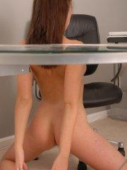 Pictures of Lucky all nude at her desk