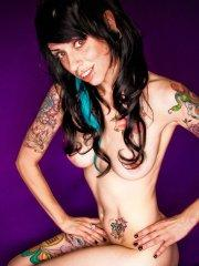 Pictures of Kayden 420 showing her hot tattooed body