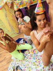 Pictures of teen Kiki 18 getting cock for her birthday