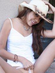 Pictures of teen cutie Kona Kalani giving your cock a sexy tease