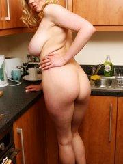 Pictures of Megan Sweets getting kinky in the kitchen