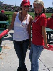 Pictures of teen Melissa Midwest going out to a ball game with her friend Jacky