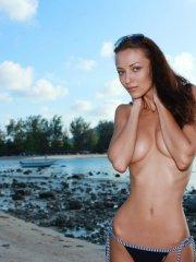 Pictures of Anna AJ naked on a beach