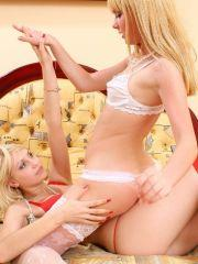 Pictures of two teen girls getting it on