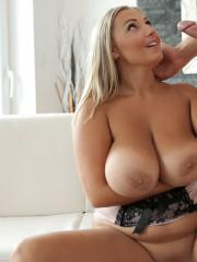 Curvy babe Crystal Swift gets her tits and pussy fucked