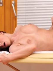 Lucy Li enjoys a wet massage followed by a hard fuck fest