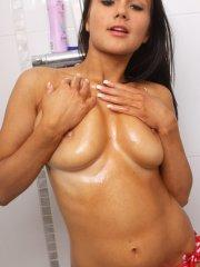 Pictures of Princess Rio getting hot and wet for you