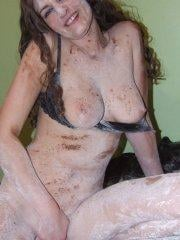 Pictures of Sabrina Deep getting dirty for you