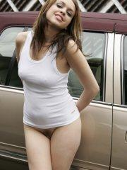 Pictures of Shauns Slut spreading her legs on top of her car