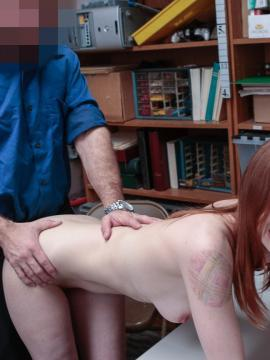Shoplifting coed Pepper Hart puts out to get out of trouble