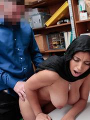 Busty coed Ella Knox fucks to stay out of trouble