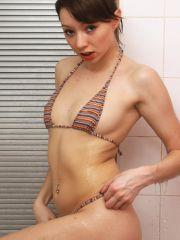 Pictures of Chloe getting her body all soaped up