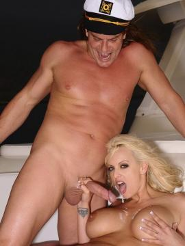 Pictures of Stormy Daniels having sex on a boat