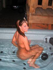 Pictures of Sweet Adri going for a naked swim