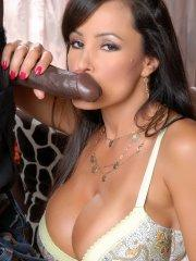 Pictures of Lisa Ann riding a massive black cock