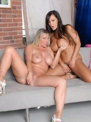 Pictures of Lisa Ann getting some hot lesbian action