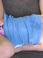 Pictures of teen girl Heidi waiting for you on a hammock