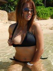 Pictures of Vicki Vice flashing in a bikini