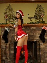 Pictures of teen Xo Eve spreading some sexy holiday cheer